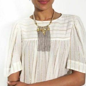 NWOT Stella & Dot Samar fringe necklace EUC